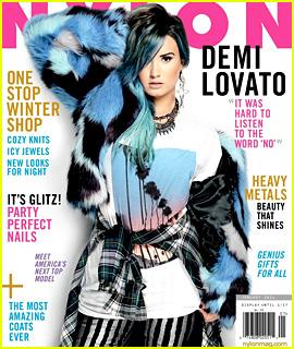 Demi lovato covers nylon december january 2014 demi lovato magazine just jared Revista fashion style magazine
