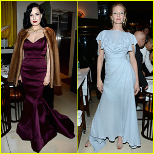 Dita Von Teese & Uma Thurman: Zac Posen Pre-Fall Dinner!