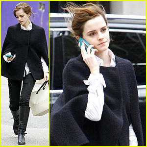Emma Watson Goes Shopping at Stella McCartney in London