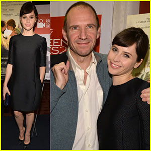Felicity Jones & Ralph Fiennes: Variety's 'Invisible Woman' Screening!