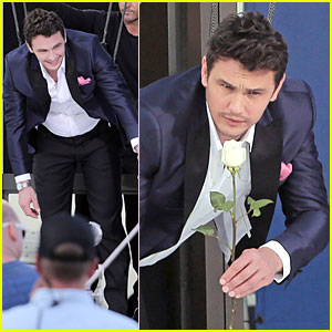 James Franco Holds White Rose for Ford Commercial!