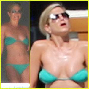 Jennifer Aniston Wears Barely There Bikini In Cabo
