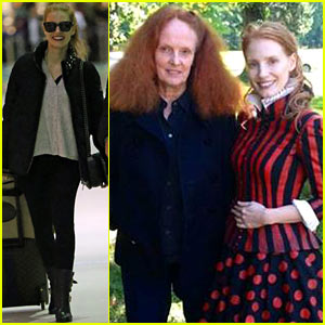 Jessica Chastain Shares 'Vogue' Behind the Scenes Picture!