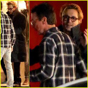 Johnny Depp Hugs Pal Goodbye After Holiday Shopping Trip