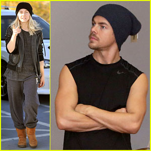 Julianne Hough Goes Snowboard Shopping with Derek!