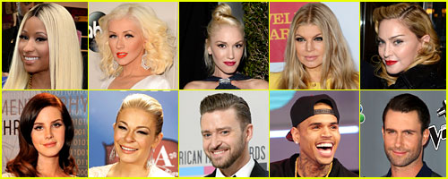 Just Jared's Most Popular Music Acts 2013