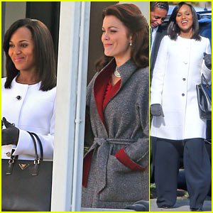 Kerry Washington & Bellamy Young: Side by Side for 'Scandal' Scene