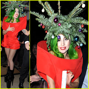 Lady Gaga Dresses as Christmas Tree After Jingle Bell Ball!