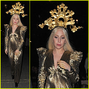 Lady Gaga Rocks Golden Headpiece for 'ARTPOP' Promo!