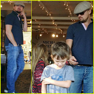 Leonardo DiCaprio Hangs with Tobey Maguire's Kids in WeHo!
