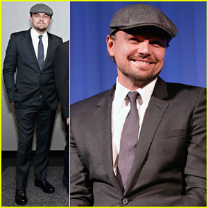 Leonardo DiCaprio: 'Wolf Of Wall Street' Academy Members Screening!
