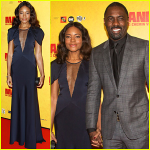 Naomie Harris & Idris Elba: 'Mandela' Paris Premiere!