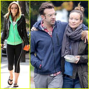 Olivia Wilde & Jason Sudeikis: Arm-in-Arm After Lunch Date
