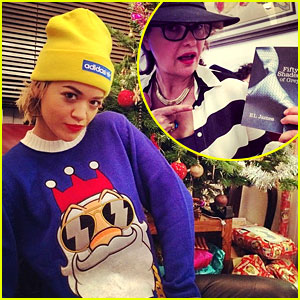 Rita Ora's Mom Gets 'Fifty Shades of Grey' Book for Christmas!