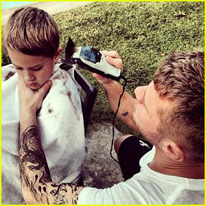 Ryan Phillippe Cuts His Son Deacon's Hair, Quits Cigarettes