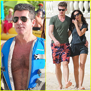 Simon Cowell: Shirtless Holiday Vacation with Terri Seymour!