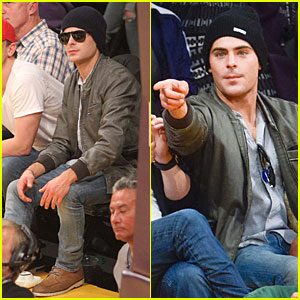 Zac Efron Cheers on Lakers for Win Against Timberwolves!