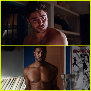 Zac Efron & Michael B. Jordan: Shirtless for 'That Awkward Moment'!