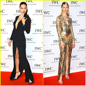 Adriana Lima & Karolina Kurkova: IWC Aquatimer Watch Launch!