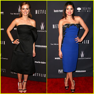 Ahna O'Reilly & Melonie Diaz - Weinstein Golden Globes Party 2014