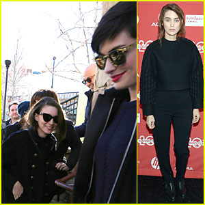 Anne Hathaway Photobombs Rooney Mara at Sundance!