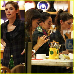 Ashley Greene: Color Me Mine Fun with Cara Santana & Blanda Eggenschwiler