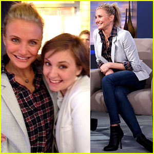 Cameron Diaz & Lena Dunham Meet at 'Good Morning America'