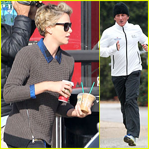 Charlize Theron: Coffee Run with Sean Penn!