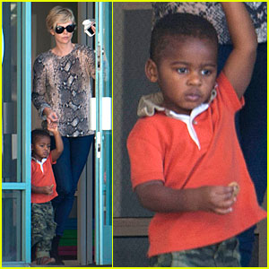 Charlize Theron: Gym with Jackson After Sean Penn Gala!