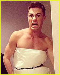 Colton Haynes Spoofs Jennifer Lawrence's Golden Globes Dress