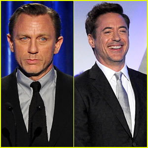 Daniel Craig & Robert Downey, Jr. - Producers Guild Awards 2014