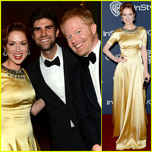Ellie Kemper & Jesse Tyler Ferguson - InStyle Golden Globes Party 2014