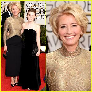 Emma Thompson - Golden Globes 2014 Red Carpet