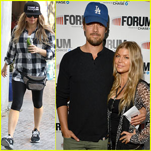 Fergie & Josh Duhamel Work On Their Fitness After Eagles Show