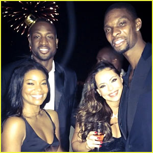 Gabrielle Union & Dwyane Wade: New Year's with Chris & Adrienne Bosh!
