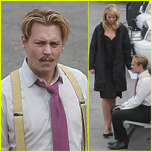Gwyneth Paltrow: 'Mortdecai' Scenes with Johnny Depp!