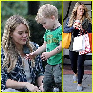 Hilary Duff: Park Date with Luca After Hair Appointment!