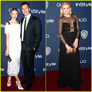 Jaime King & Malin Akerman - InStyle Golden Globes Party 2014