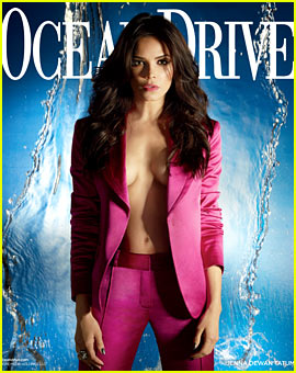Jenna Dewan Displays Cleavage for 'Ocean Drive' January 2014