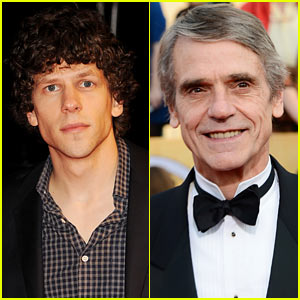 Jesse Eisenberg Lands Villainous Lex Luthor Role in 'Batman vs. Superman,' Jeremy Irons to Play Alfred