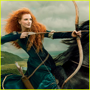 Jessica Chastain: Princess Merida for Disney Dream Portrait!