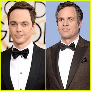 Jim Parsons & Mark Ruffalo - Golden Globes 2014 Red Carpet