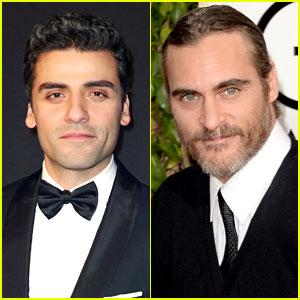 Joaquin Phoenix & Oscar Isaac - Golden Globes Parties 2014