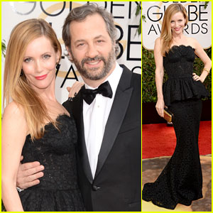 Judd Apatow & Leslie Mann - Golden Globes 2014 Red Carpet