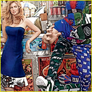 Kate Upton & Jimmy Fallon Celebrate the Super Bowl with 'Vogue'