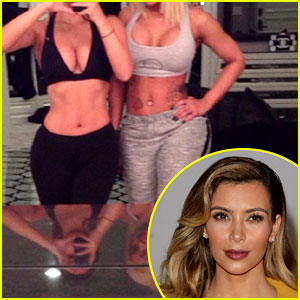 Kim Kardashian Bares Abs, Butt, & Cleavage in Instagram Pics