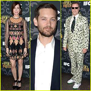 Kristen Wiig & Tobey Maguire: 'Spoils Of Babylon' DGA Screening!