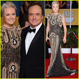 Malin Akerman: SAG Awards 2014 Red Carpet with Bradley Whitford