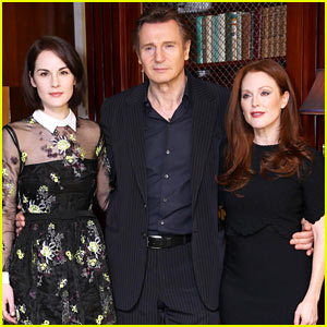 Michelle Dockery & Julianne Moore Show Off Their Style at 'Non-Stop' UK Photo Call