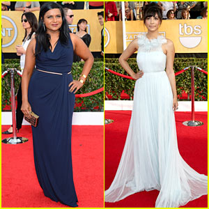 Mindy Kaling & Hannah Simone - SAG Awards 2014 Red Carpet